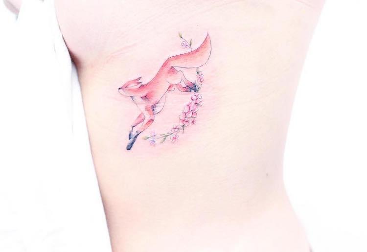 Tatuagens encantadoras em tons pastel de Mini Lau