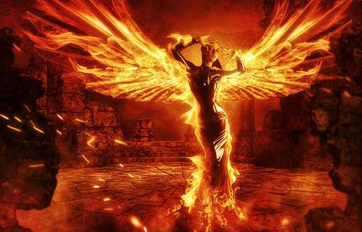 Огонь с ангелом