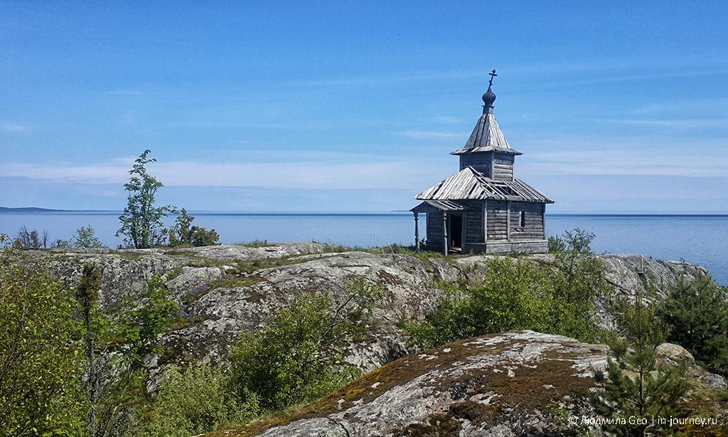 разрушающаяся церковь на острове Есусаарет