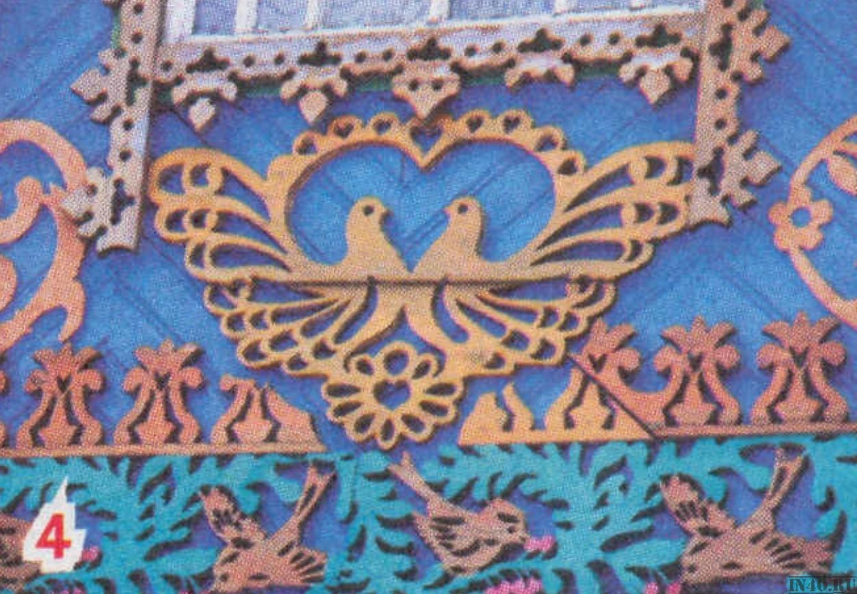 орнамент Птица символ брака