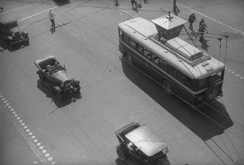 Стрелочный светофор на Пушкинской площади