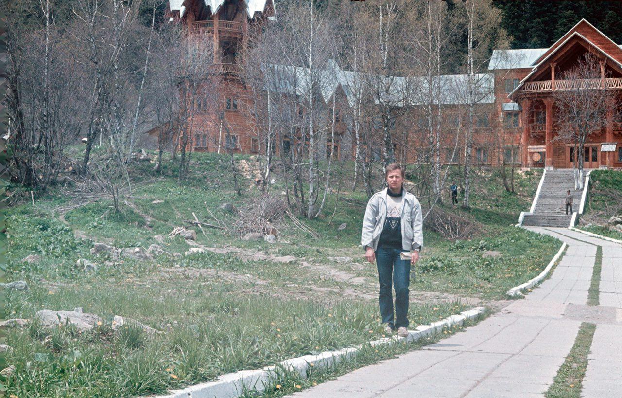 Гостиница «Солнечная долина» в 1988 году (фото из семейного архива)