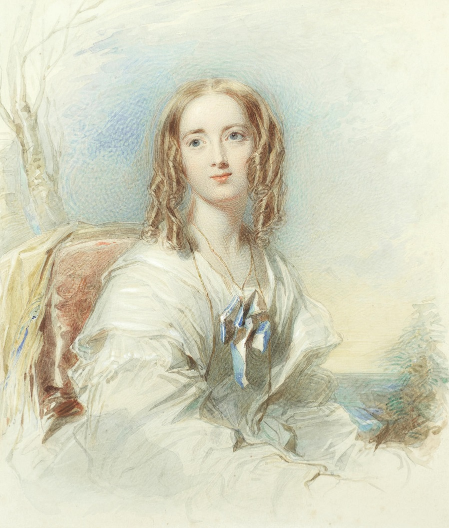 Portrait of a young lady thought to be Miss Letitia Taylor.
