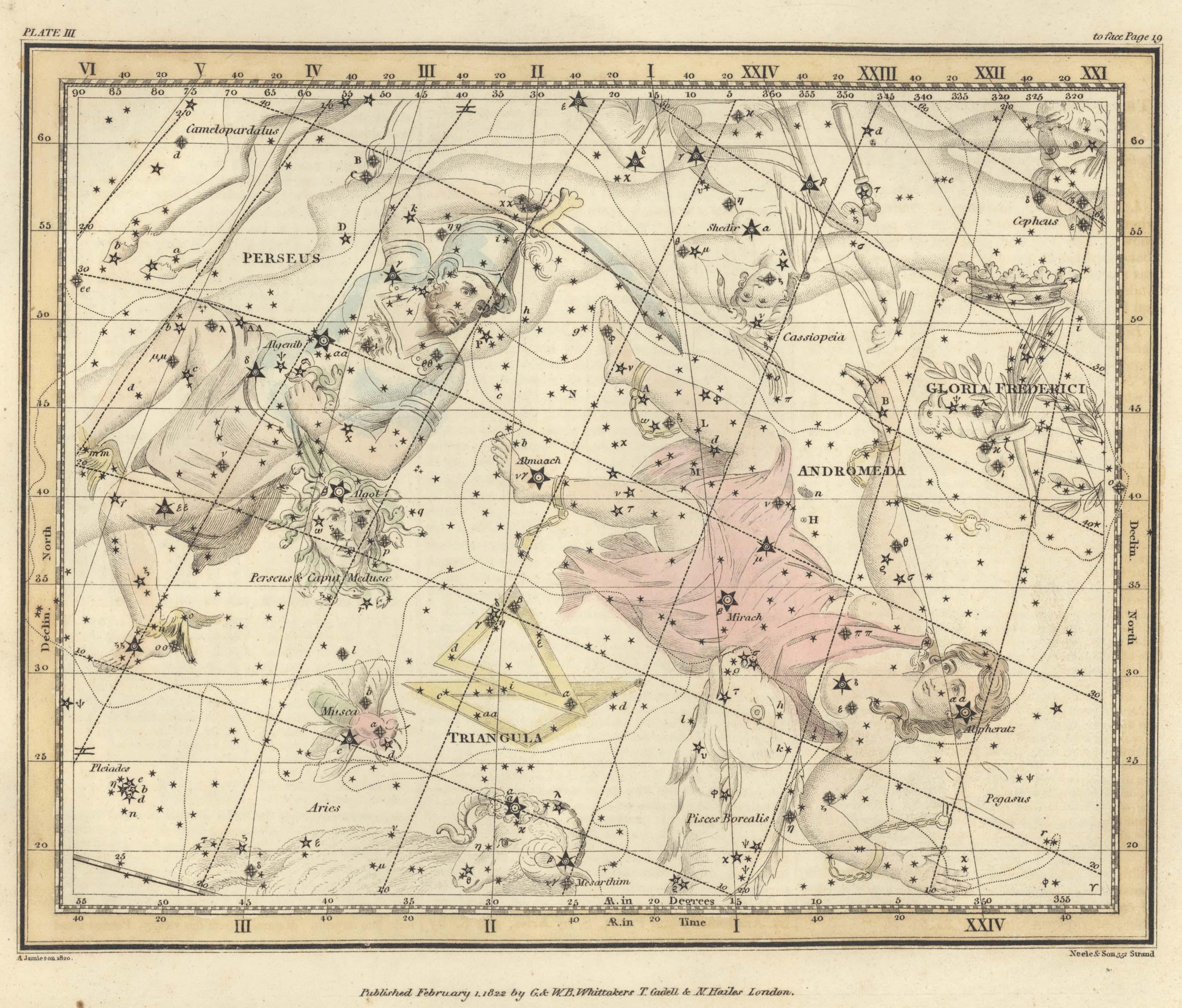 Страница № 6: Персей и Голова Горгоны, Андромеда, Треугольник и Слава Фридриха II