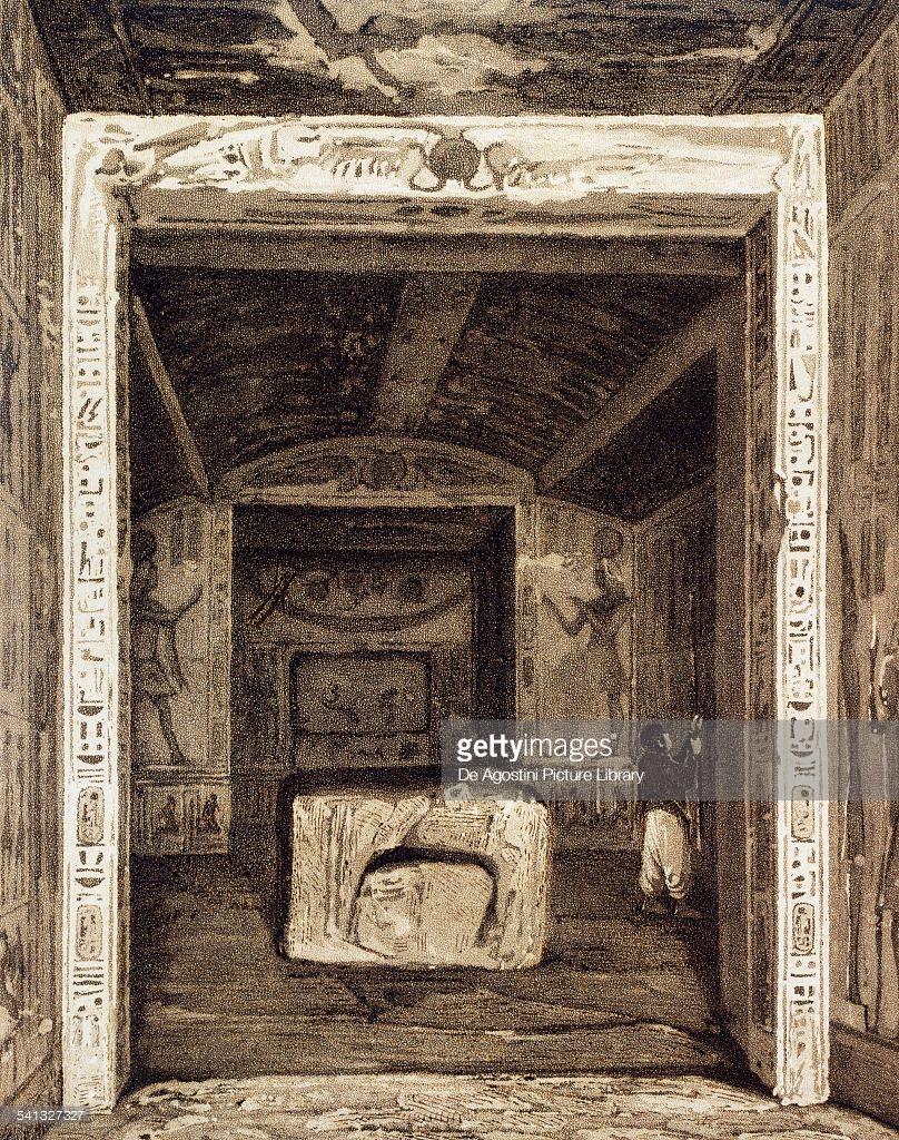 1841. Интерьер гробницы Рамсеса VI. Долина царей