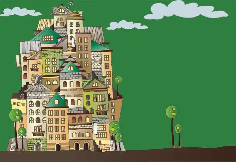 Открытка. Всемирный день архитектуры. С праздником