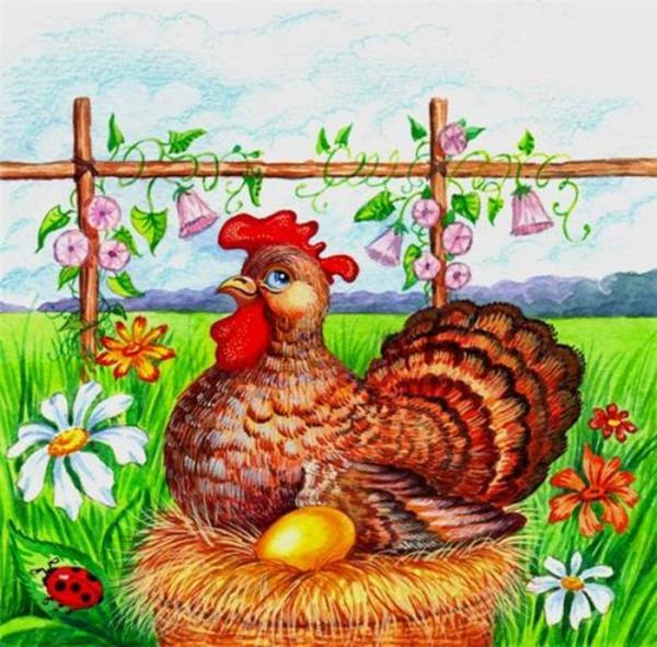 С Всемирным днем яйца. Курочка снесла золотое яичко