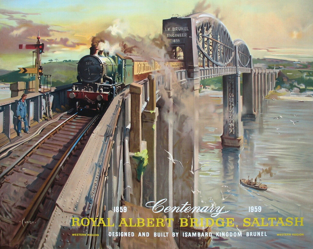 Terence Cuneo - Centenary Royal Albert Bridge, Saltash 1859-1959.
