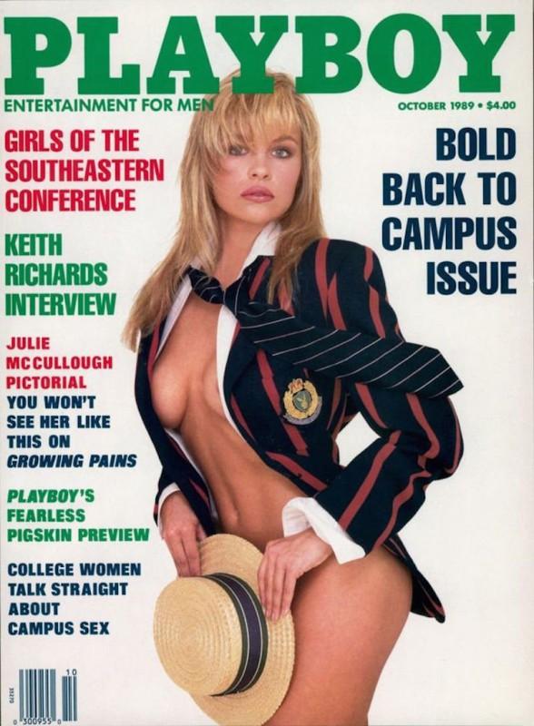 1989 год.    Памела Андерсон украсила обложку мужского журнала 151 раз в 31 стране, в том числе