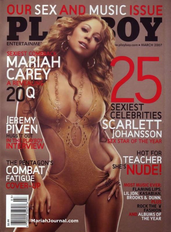 2007 год.   Мэрайя Кэри первый и единственный раз появилась на обложке Playboy в тот же год, ко