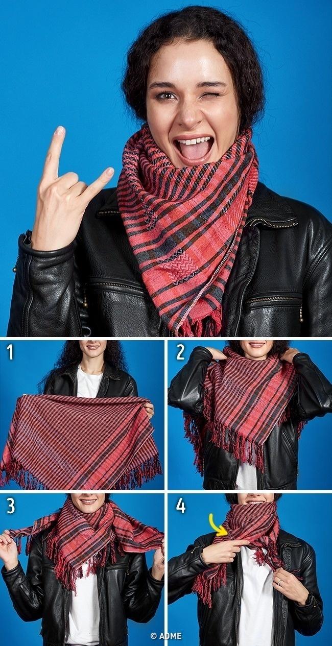 «Ожерелье» излегкого шарфа