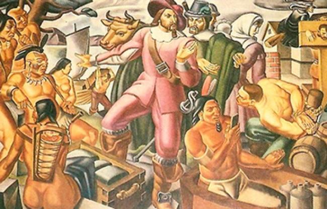 © postalmuseum     «Мистер Пинчон ипоселение Спрингфилд» («Mr. Pynchon and the Springfie