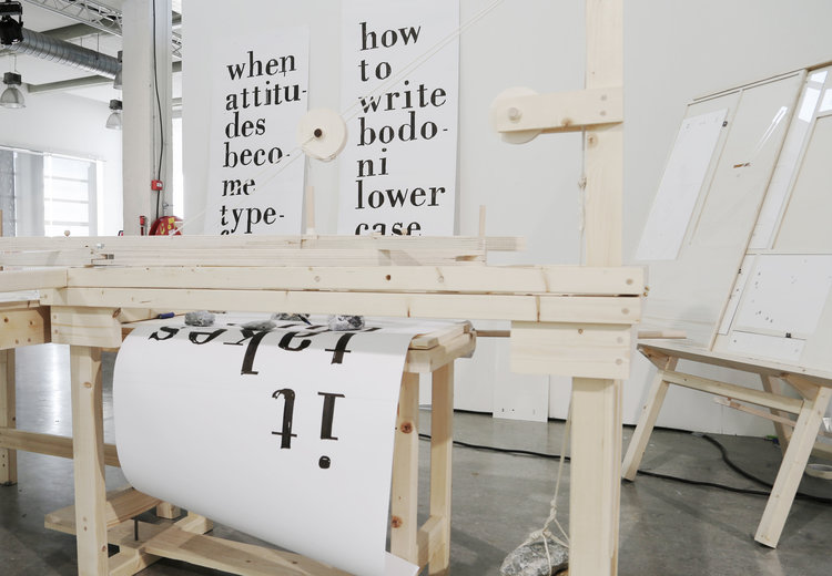 Hand-Writing Bodoni Machine