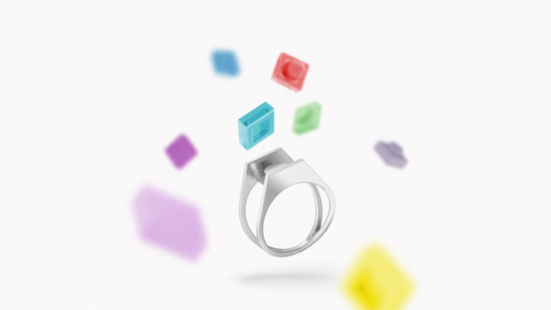 Customize these clever LEGO rings!