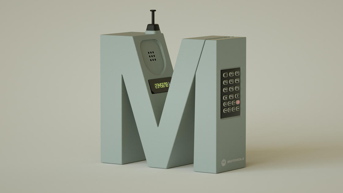 Electronic Font – A typography in tribute to cult gadgets