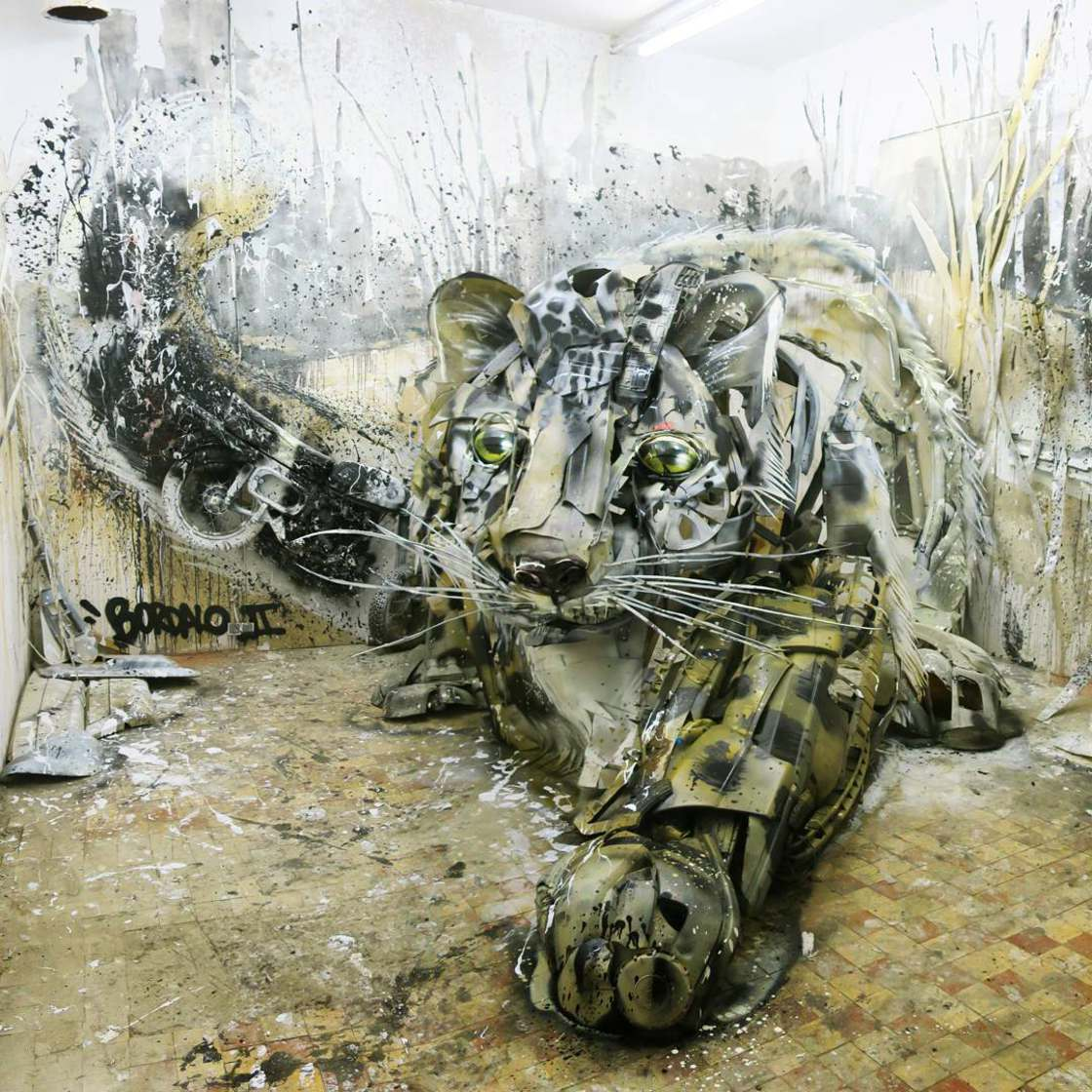 Art with Trash - The latest street art creations from Bordalo II