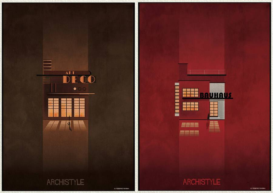 Architecture's Movements Illustrated Through Posters (18 pics)