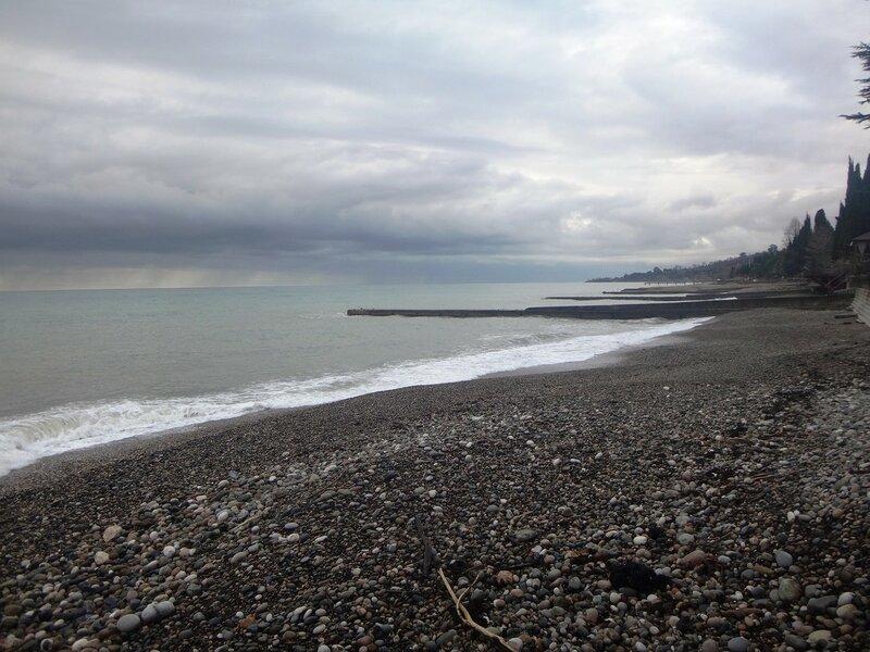 У моря Чёрного, в Абхазии, время зимнее, Новогоднее (28).JPG