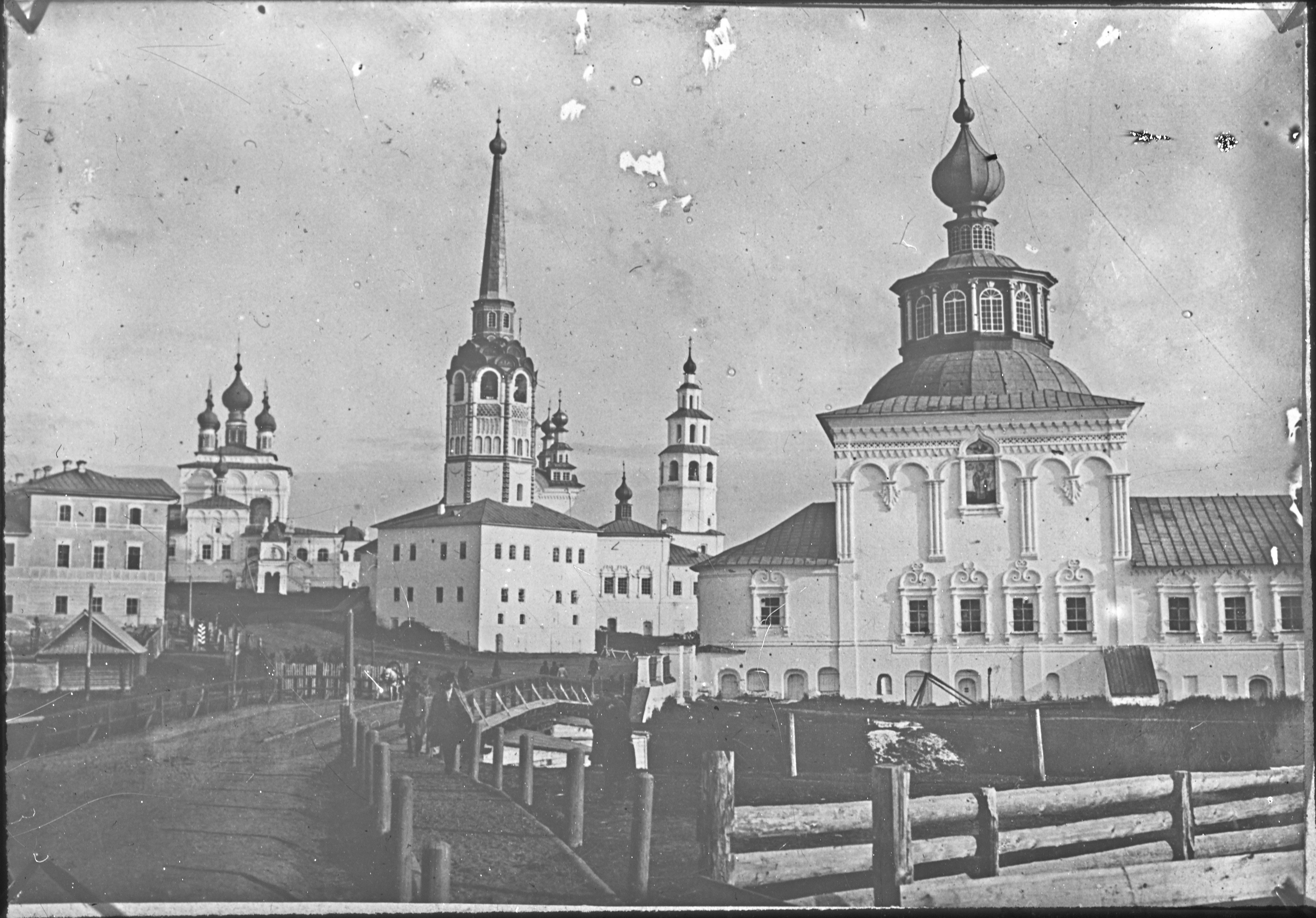 Соборный комплекс. Вид через реку Усолка. 1896