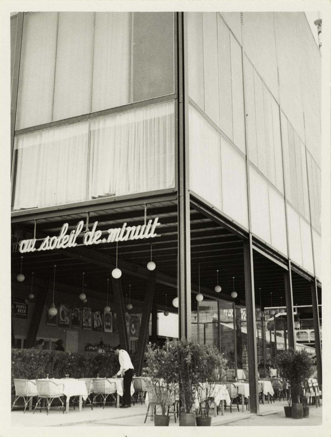 Павильон Швеции. Ресторан «Полночное солнце». Фасад со стороны Сены