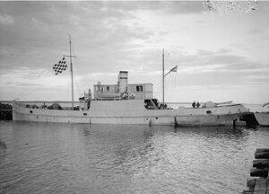 1919. Пароход, захваченный большевистскими силами на Онежском озере