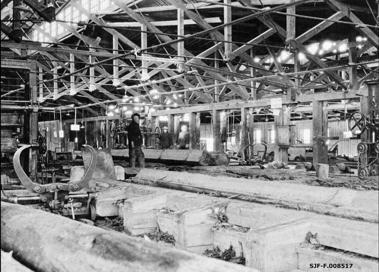 Интерьер лесопильного завода Ко. Онежского Лесного Торга