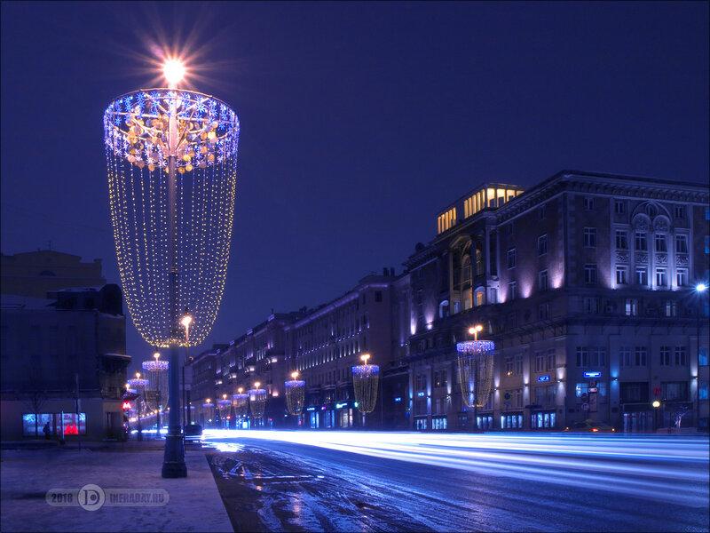 Ночной город Москва, штатив, выдержка 30 секунд. Night city Moscow, tripod, exposure 30 sec.
