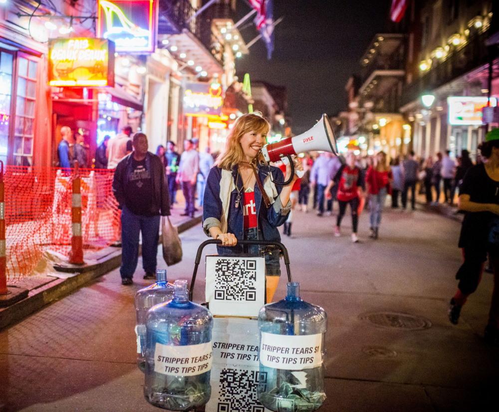 Протест стриптизеров в Новом Орлеане