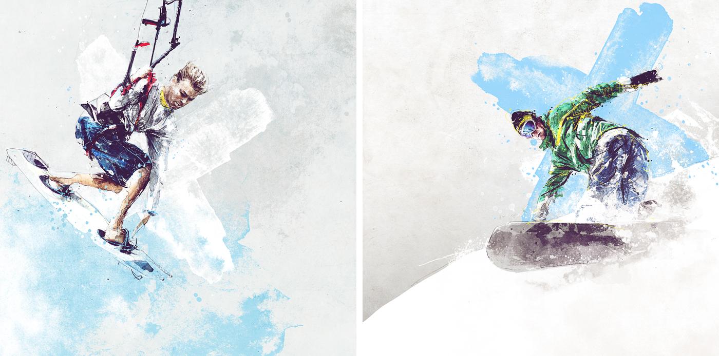 Спортивные иллюстрации - Sport illustrations / рисунки Florian NICOLLE