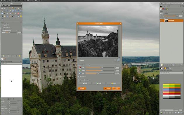 GIMP поддерживает большое количество плагинов. Он может работать и с проприетарными форматами Photos
