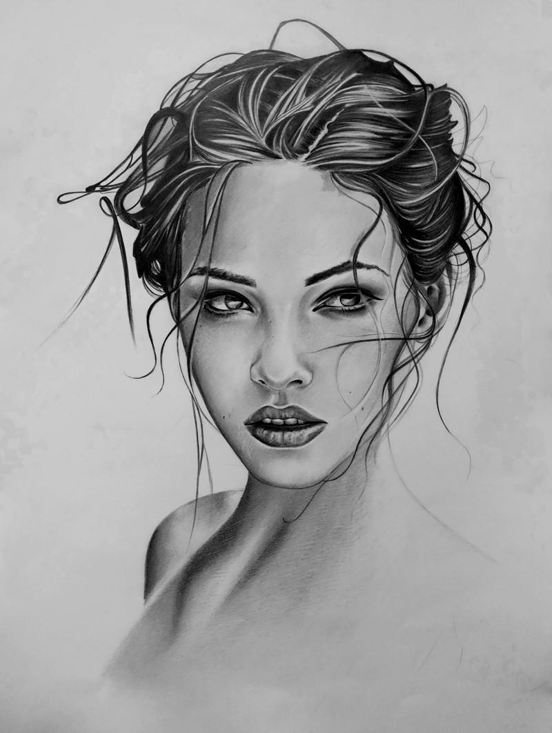 Рисунки углём - красота на бумаге