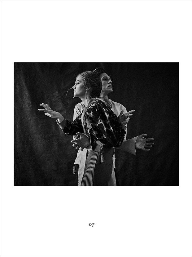 Michalina trousers: Weave top: Michal Szulc jacket: 1683 atelier shoes: Cesarre Maksym blous