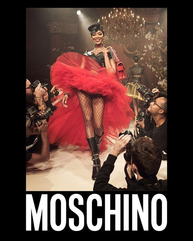 Naomi Campbell, Liya Kebede + More Model Moschino SS18 Collection (5 pics)