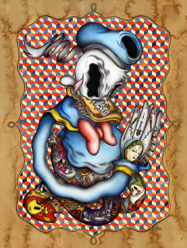 Pop Surrealist - Odo aka Nicolas Le Borgne