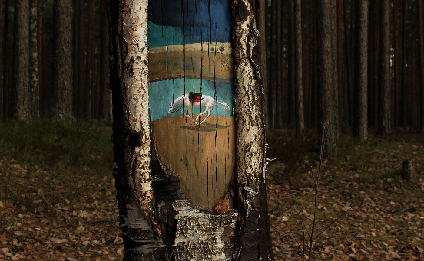 Beautiful and Poetic Drawings on Trees