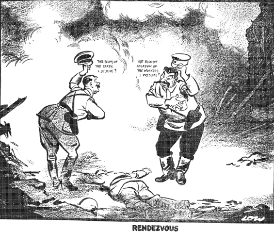 David Low's. Rendezvous. Evening Standard. 20.09.1939.png