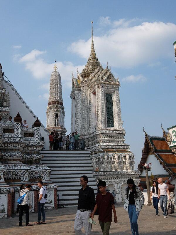 Бангкок - Начало подъема на Ват Арун