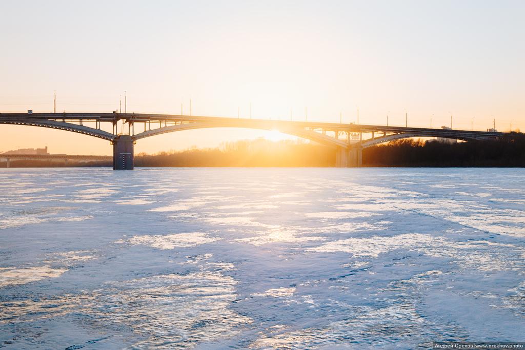 Зима, лед, стрелка