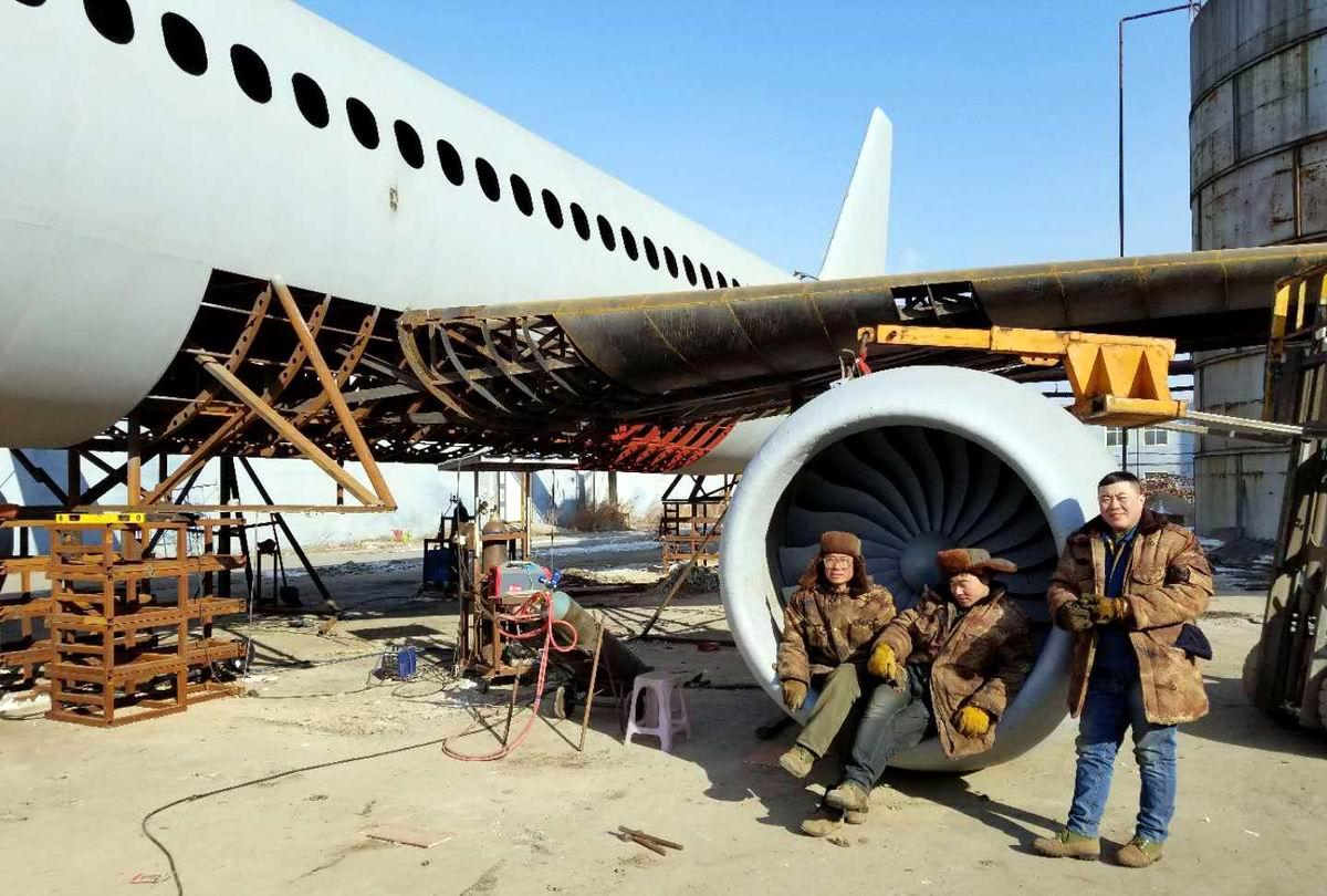 Вот построим самолет и отправимся в полет: Самодельный аэробус одного китайского фермера