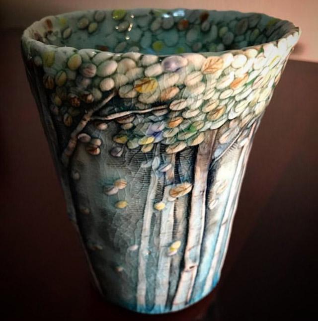 Растительная керамика Хису Ли