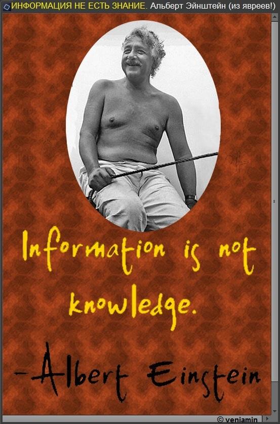 Информация не есть знание. Альберт Эйнштейн. рамка, (800+), цитаты, цитатник