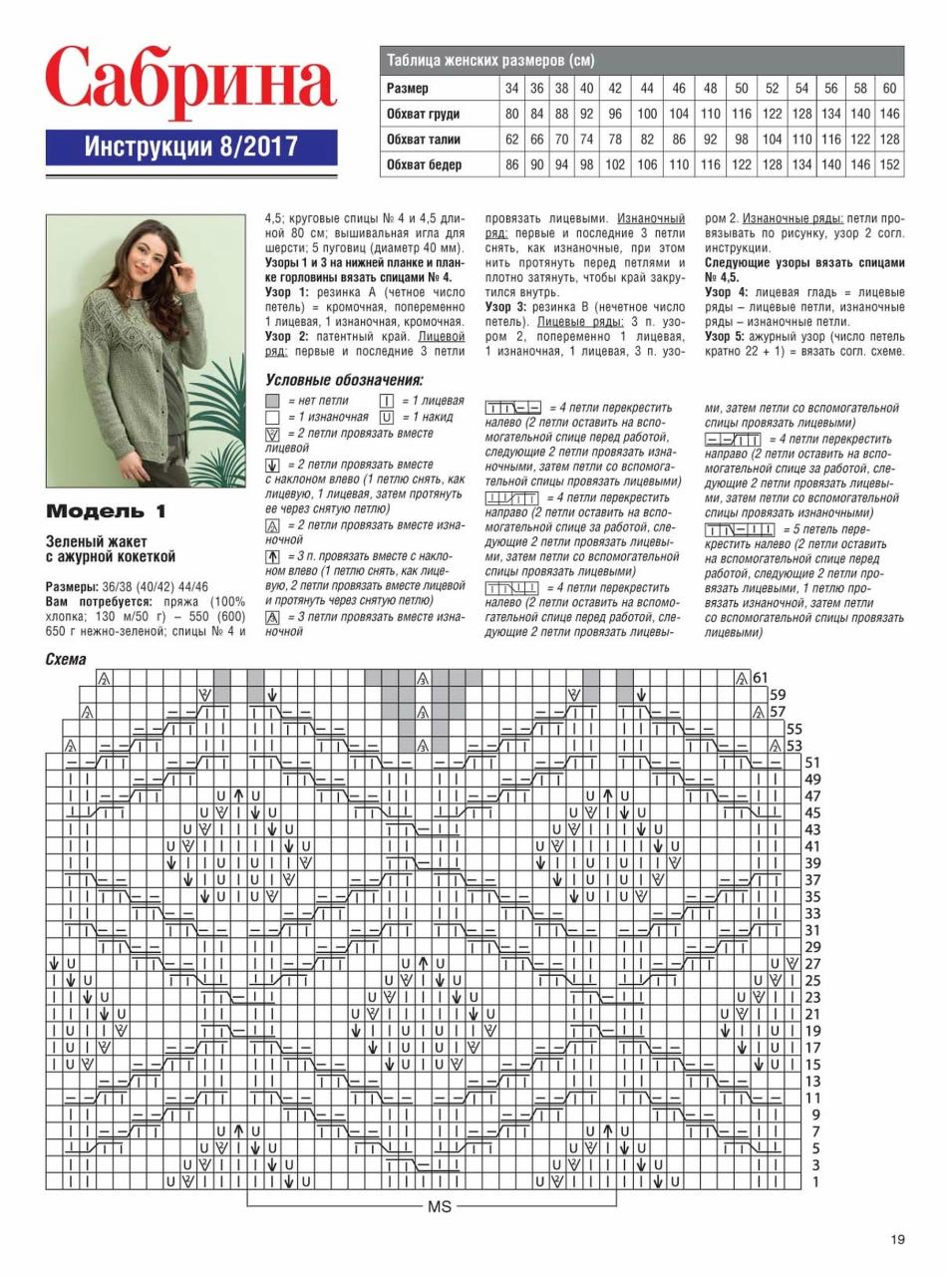 Журнал сабрина вязание спицами 2017 со схемами  лучшее