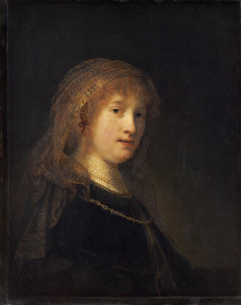 109.Портрет Саскии ван Эйленбург, жены художника (1634-1638) (60.5 x 49 см) (Вашингтон, Нац. галерея).jpg