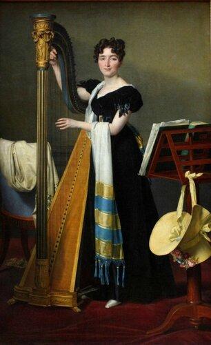 Jacques-Louis David (French, 1748-1825) Potrait of Juliette de Villeneuve, niece of Julie et Désirée Clary, wife to Joseph Bonaparte. 1824