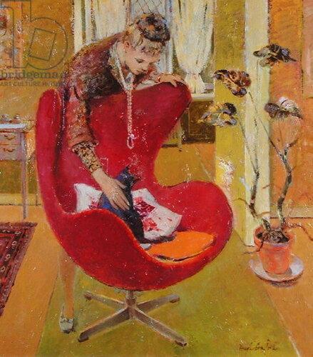Hugh Adam Crawford Поглаживание кота