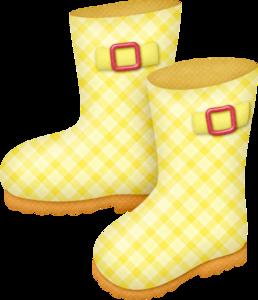 желтые резиновые сапоги