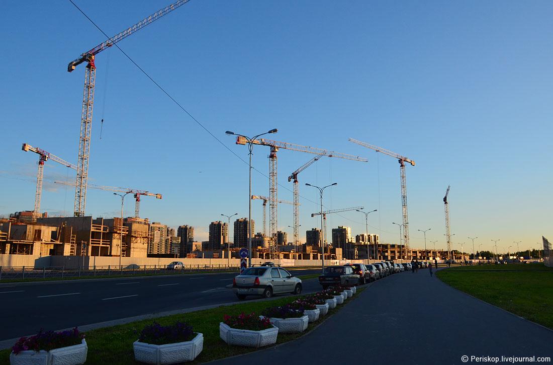 Юго-западный морской фасад Питера. Часть 2 - мост Кадырова и китайский квартал