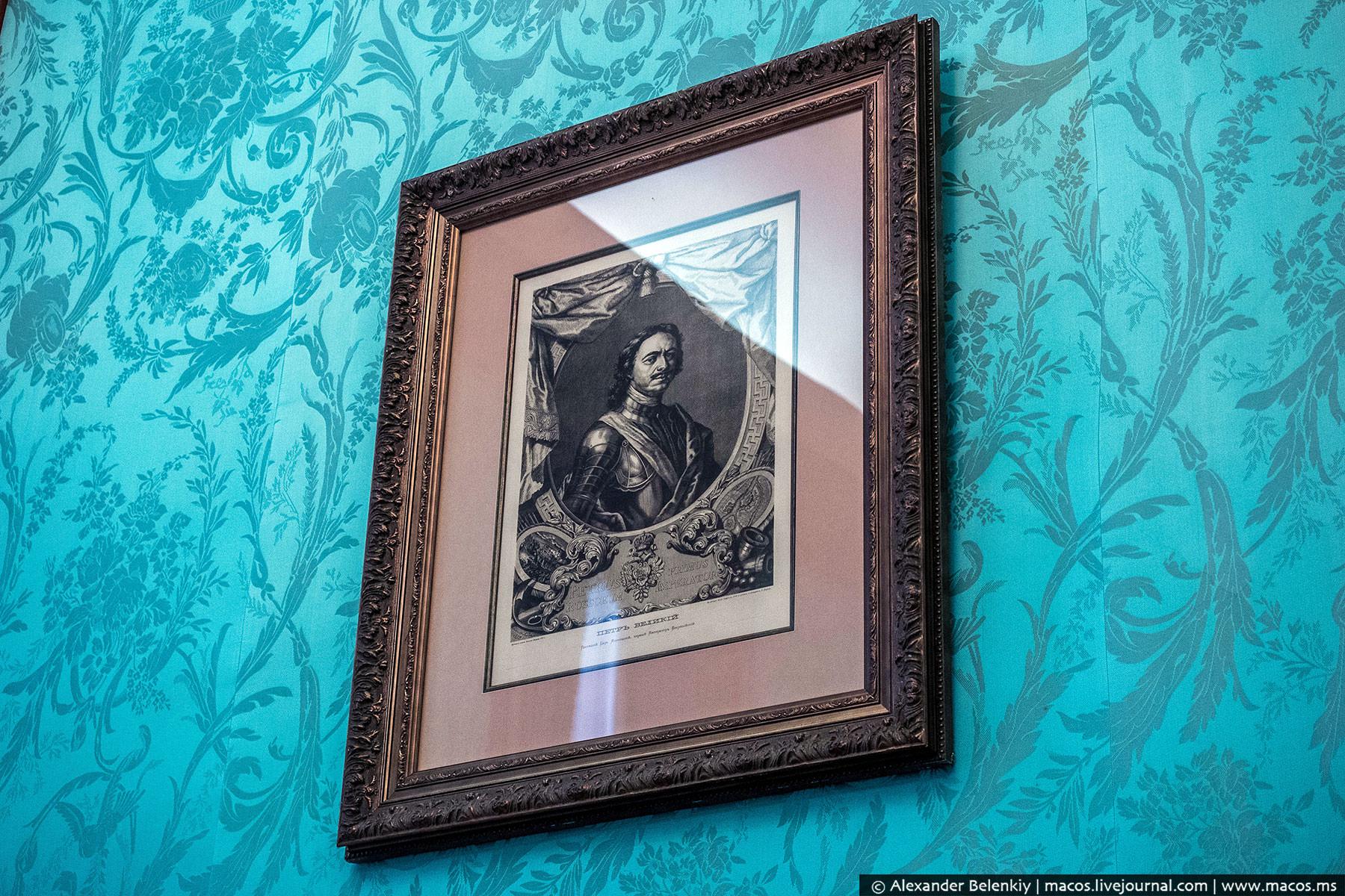 Сайт посольства: «Портрет Петра, размещенный в центре противоположной от входа стены, репродукция гр