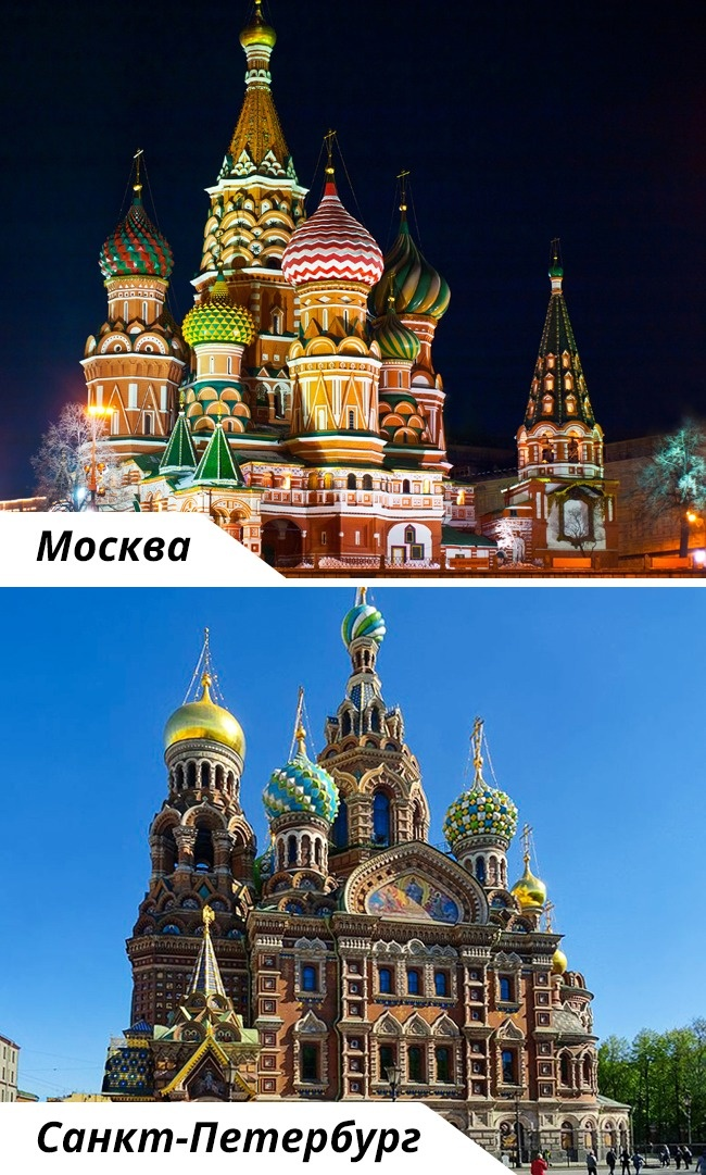 © depositphotos  © wikimedia     Купола Храма Василия Блаженного— один из