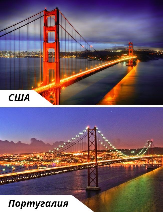 © depositphotos  © depositphotos     Красных мостов вмире видимо-невидимо,